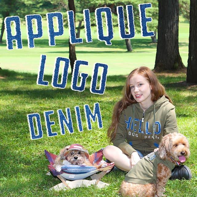 デニムアップリロゴシリーズ ブランドのドッグデプト/DOG DEPT ペアルック
