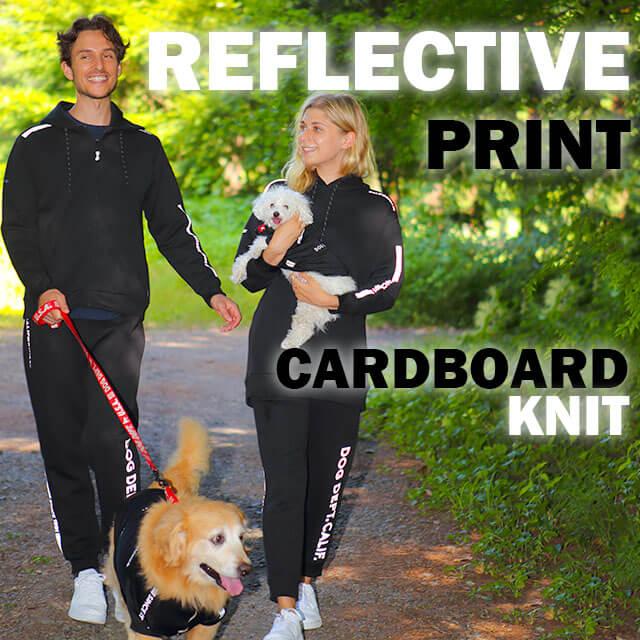 リフレクタープリントダンボールニットシリーズ ブランドのドッグデプト/DOG DEPT ペアルック