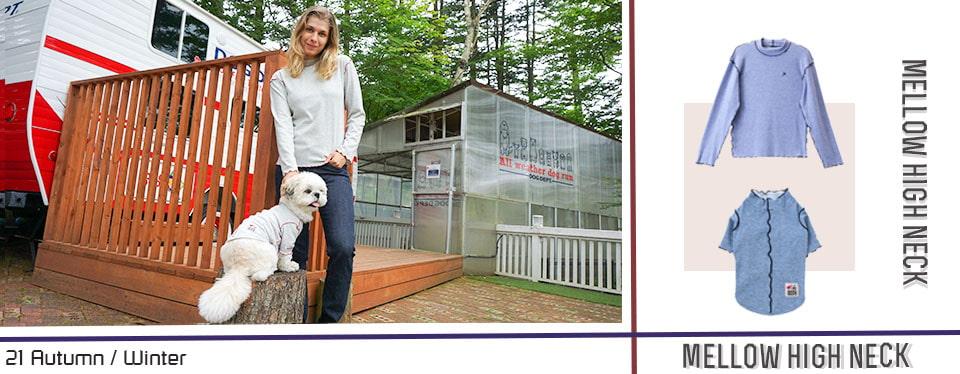 チメローハイネックペアルック ブランドのドッグデプト/DOG DEPT ペアルック