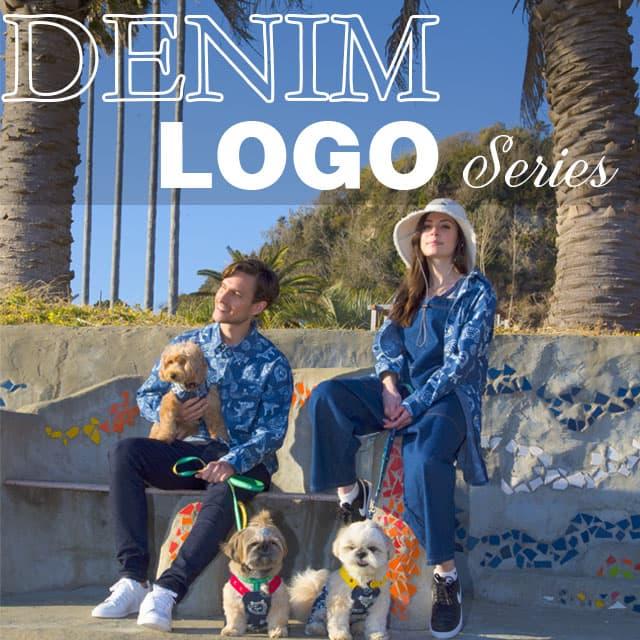 デニム総柄ロゴシリーズ ブランドのドッグデプト/DOG DEPT ペアルック